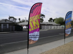 Custom Real Estate Feather Banners